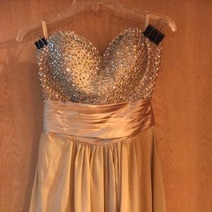 Gold bridesmaid/prom dress by izidress